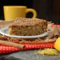 Vegan Lemon Vanilla Coffee Cake
