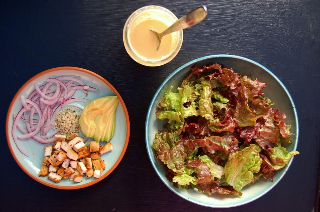 baked_tofu_green_salad_3_items
