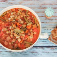 Whole Food Plant Based Minestrone Soup Recipe