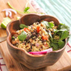 The Plant Based Wizardry Behind Team Dirty + Creamy Avo Quinoa Salad